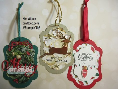 Stampin' Up, Stitched Seasons dies, with Holiday Catalog bundles