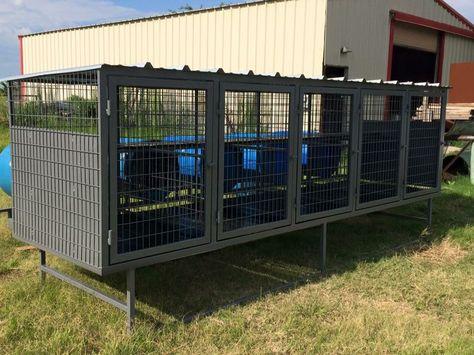 5 dog above ground dog kennel | Dog kennel outdoor, Dog kennel, Diy dog  kennel