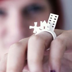 Create these fun and easy shrink plastic rings. Free template included!