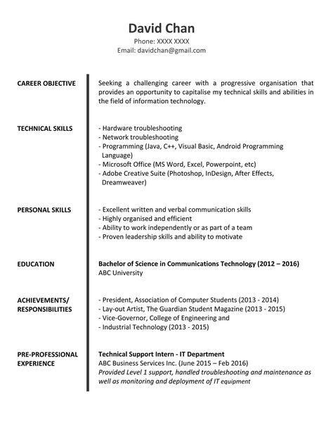 Cv Sample Jobsdb Job Cover Letter Resume Application Letters