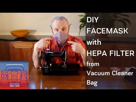 Diy Facemask Made From Cotton Vacuum Cleaner Bag Youtube In