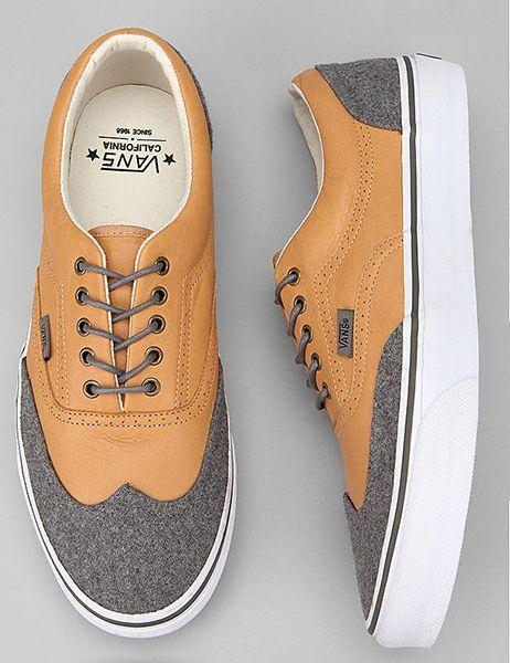 (casual wingtips) Vans California Era Wingtip Leather And Wool Sneaker