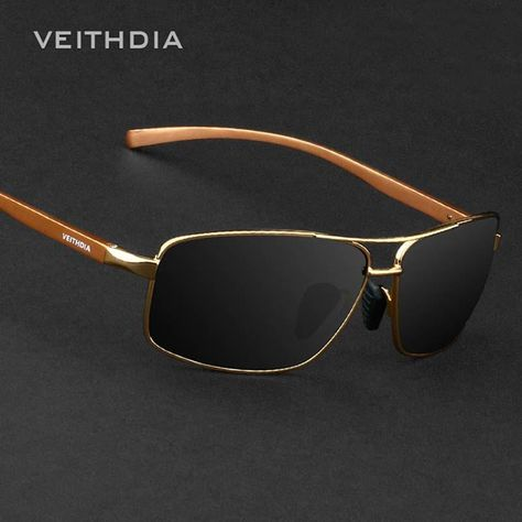 VEITHDIA Polarized Sunglasses Men Mirrored Lens Eyeglasses Male Sun Glasses Luxury Quality Vintange Mens Eyewear oculos de sol. Yesterday's price: US $17.63 (15.73 EUR). Today's price (December 8, 2018): US $9.52 (8.49 EUR). Discount: 46%. #Accessories #vintange #veithdia