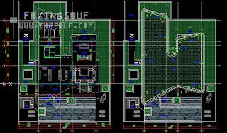 خربشات مهندس مخطط فيلا مودرن مخطط فيلا صغيرة دور ارضي اوتوكاد In 2021 Autocad Tetris
