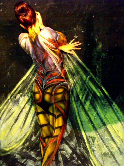"YELLOW JACKET - Leroy Roper   ""This image signifies the predatory wasps...in which all females have the power to sting.""  16.5"" x 23.5"" Giclee Print / Edition of 50  http://ilovebodyart.bigcartel.com/product/yellow-jacket-leroy-roper"