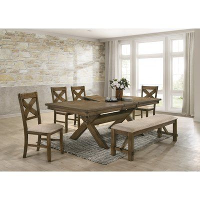 Gracie Oaks Poe 6 Piece Extendable Dining Set | Wooden