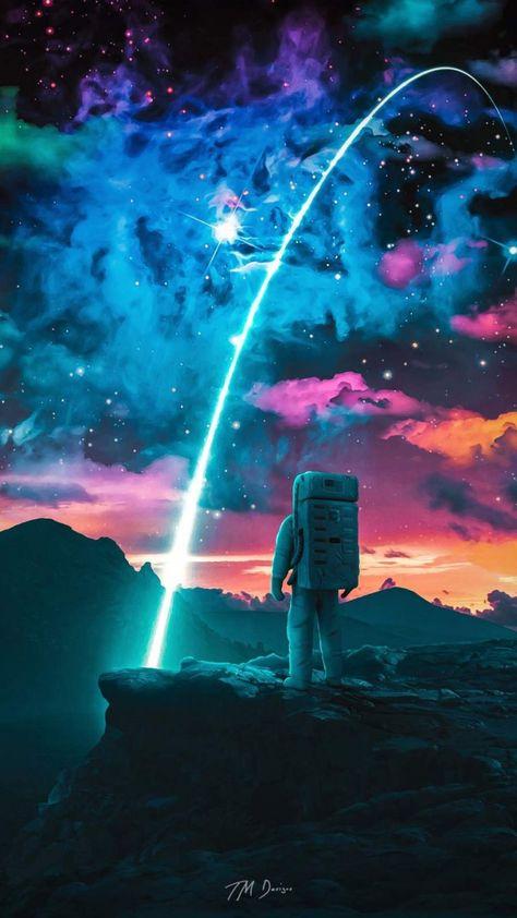 Astronaut Star iPhone Wallpaper - iPhone Wallpapers