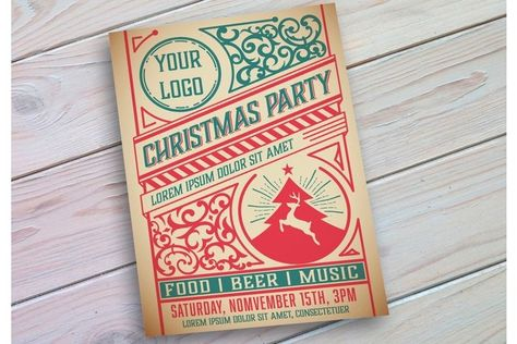 Christmas Event Poster Layout (935051) | Products | Design Bundles