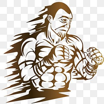 Mma Fighter With Gloves And Muscle Mixed Martial Arts Warrior Muscle Png And Vector With Transparent Background For Free Download Cartoon Styles Mma Fighters Vector Illustration