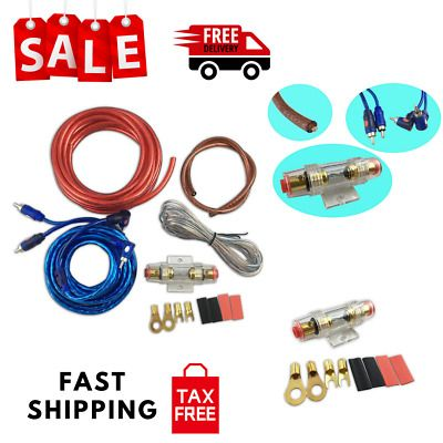 4 Gauge Cable Car Audio Kit Amp Amplifier Install RCA Subwoofer Sub Wiring New