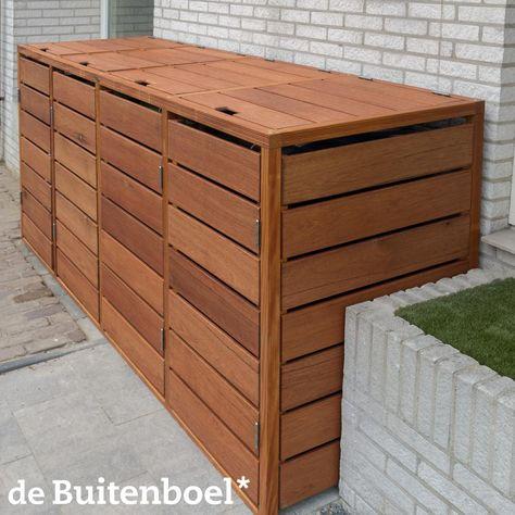 Kliko Container Kast Fsc Hardhout Vierdubbel Met Deksels