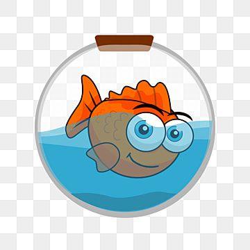 سمكة ذهبية في كرة مائية حوض السمك Clipart أيقونة سمكة ذهبية Png والمتجهات للتحميل مجانا Creative Artwork Golden Fish Creative