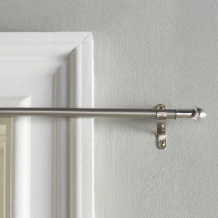 Red Barrel Studio Jerrie Single Curtain Rod Wayfair Cafe Curtain Rods Curtain Rods Curtain Rods And Hardware