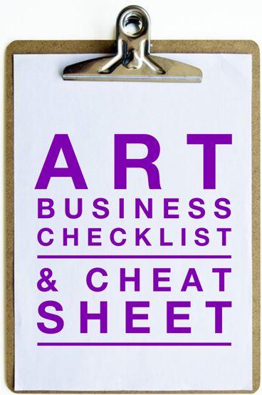 Art Business Checklist & Cheat Sheet | Artsy Shark