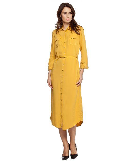 Lcw Sari Renkli Uzun Bayan Elbisesi Moda Stilleri Elbise Modelleri Elbise
