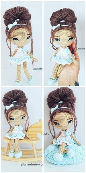 How to crochet doll winter shoes / mini booties crochet - YouTube | 600x300
