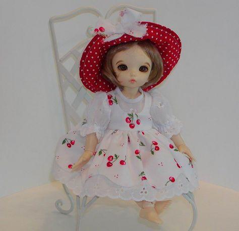 Little Fee Leah models Cherry Jumper- Eyelet Blouse | Flickr - Photo Sharing!