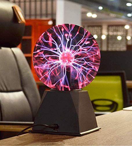 Sisliya Sensory Moon True 8 Inch Plasma Ball Lightning Lamp Globe Electric Touch And Sound Sensitive Tesla Pla In 2020 Globe Electric Night Light Kids Ball Lightning
