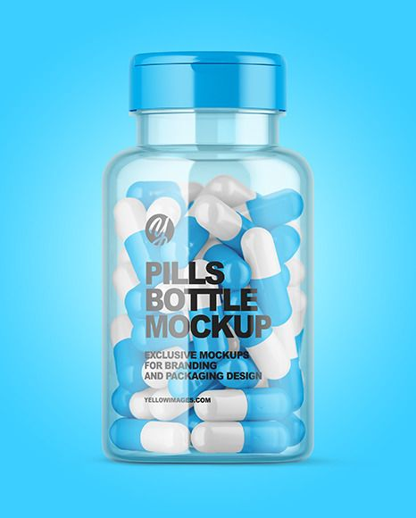 Clear Pills Bottle With Flip Top Cap Mockup In Bottle Mockups On Yellow Images Object Mockups Bottle Mockup Pill Bottles Mockup