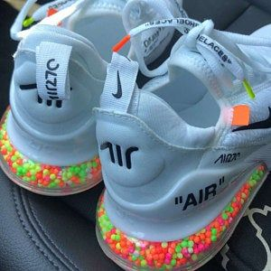 Custom Nike Air Max 270 Glow In The Dark Air Max Nike Drippy Painted Offwhite Custom Beads Candy Sweets Unisex Womens Mens Shoes Nike Air Shoes Cute Sneakers Nike Shoes Outfits