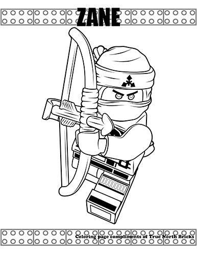Coloring Page Ninja Zane True North Bricks Ausmalbilder Ausmalbilder Kinder Ausmalen