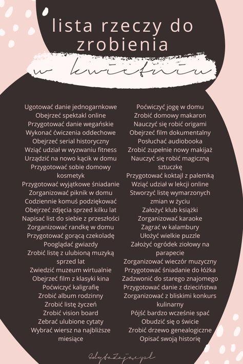 Lista przeżyć kwietnia - Edyta Zając - Psycholog