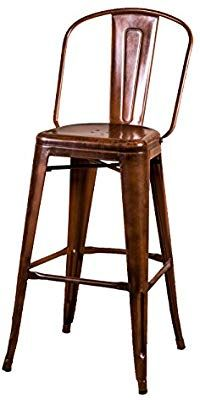 Strange Peppermill Antiques Copper Tolix Style Stool Tall Metal Bar Gmtry Best Dining Table And Chair Ideas Images Gmtryco