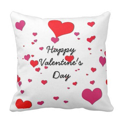 Happy Valentine 39 S Day Throw Pillow Cute Gifts Cool Giftideas Custom Cojines Decorativos Cojines