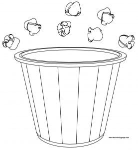 Popcorn Bucket And Pop Coloring Page Http Wecoloringpage Com