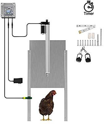 Amazon Com Lovinouse Upgraded Automatic Chicken Door Coop Opener Kit With Timer Controller In 2020 Automatic Chicken Coop Door Automatic Chicken Door Chicken Coop