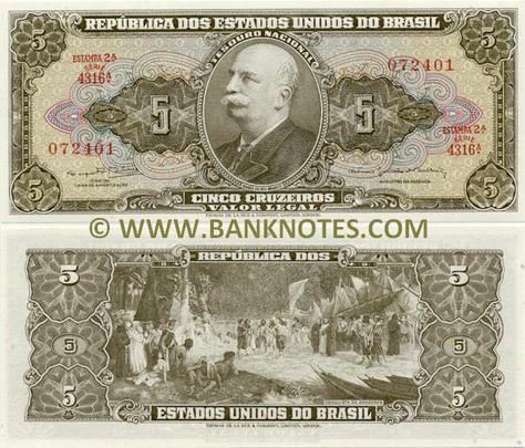 Brazil Currency Brazil 5 Cruzeiros 1964 Brazilian Currency