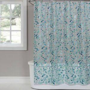 Saturday Knight Sea Glass Peva Shower Curtain In White Google