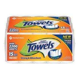 Member S Mark Super Premium Paper Towels 15 Rolls 150 Sheets Per