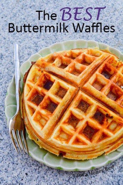 The Best Buttermilk Waffles I Am A Honey Bee Waffles Recipe Homemade Best Waffle Recipe Homemade Waffles