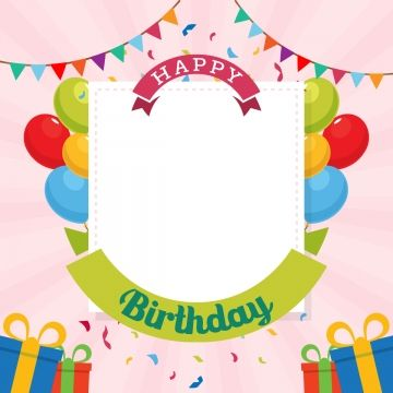 Happy Birthday Typography Vector Design Template For Birthday Card