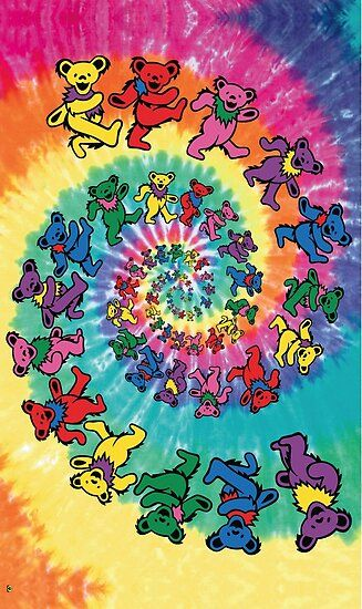 Lose yourself for hours in this fantastic Grateful Dead poster! A trippy tie-dye swirl of lovable Dancing Bears! Check out the rest of our excellent selection of Grateful Dead posters! Need Poster Mounts. Hippie Wallpaper, Trippy Wallpaper, Iphone Background Wallpaper, Retro Wallpaper, Aesthetic Iphone Wallpaper, Aesthetic Wallpapers, Trippy Background, Hippie Background, Background Designs