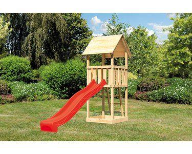 Akubi Spielturm Lotti Naturbelassen Mit Satteldach Rutsche Grun Kaufen Bei Obi Swing Set Playhouse Play Houses Swing Set