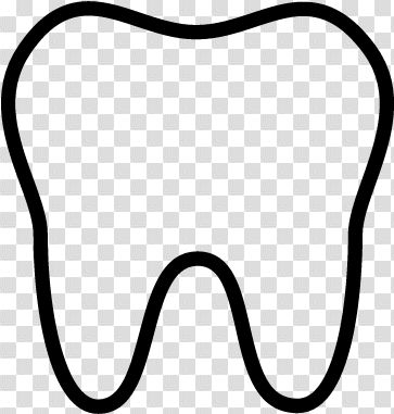 Download Hd Big Tooth Vector Tooth Outline Transparent Png Image Tooth Outline Black Cat Silhouette People Top View