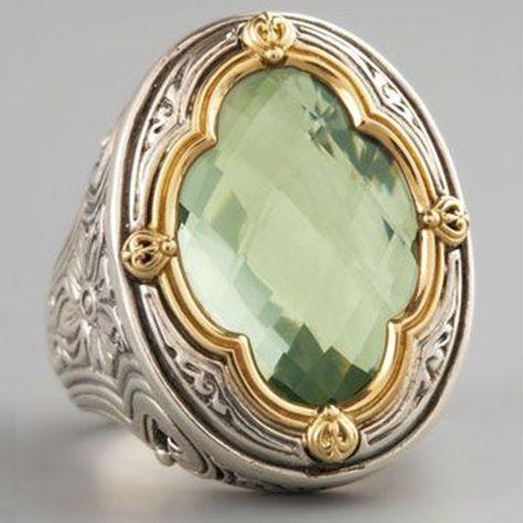 Women White Topaz 18K Yellow Gold Filled Ring Wedding Engagement Jewelry Sz5-10