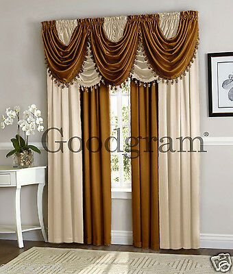 Hyatt Window Curtain Treatment Panel OR Valance Assorted Styles /& colors /_ New