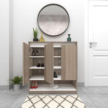 Show Details For جزامة تخزين أحذية 90 سم بني Modern Tv Wall Units Furniture Wall Unit