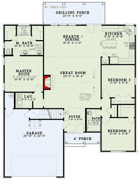 Plan 60591nd 3 Bedroom Builder Special Home Plan Tuscan House Plans House Plans Cottage House Plans