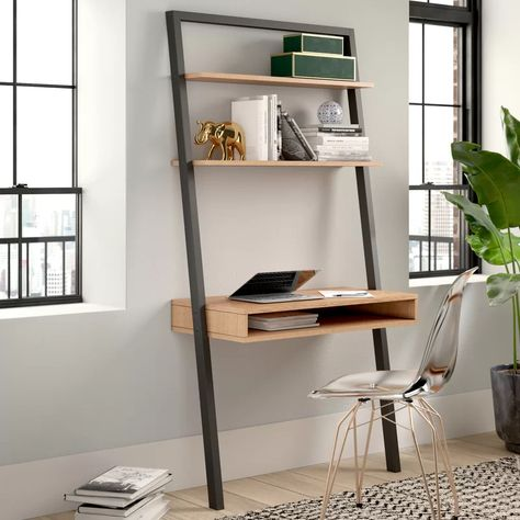 Theophanes Leaning Ladder Desk Reviews Joss Main Ladder Desk Leaning Ladder Desk Office Chairs For Sale