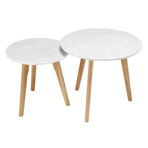 Tables Gigognes En Marbre Et Chene Tables Gigognes Deco Maison Du Monde Table Basse Marbre