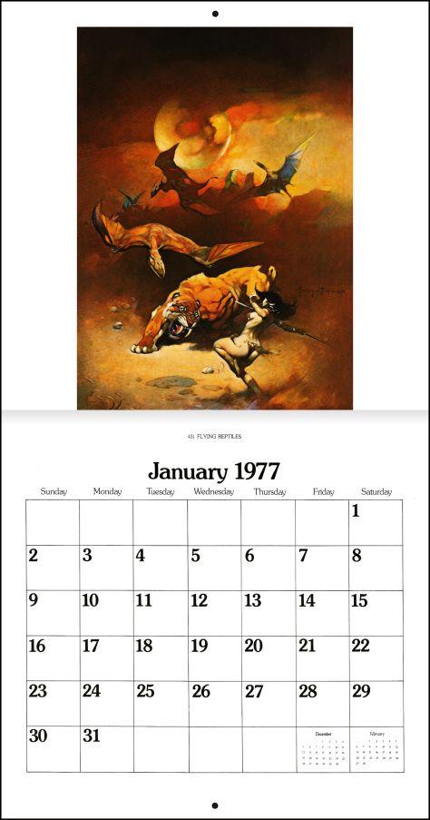 Frank Frazetta Calendar 1977 Frank Frazetta Conan The Barbarian