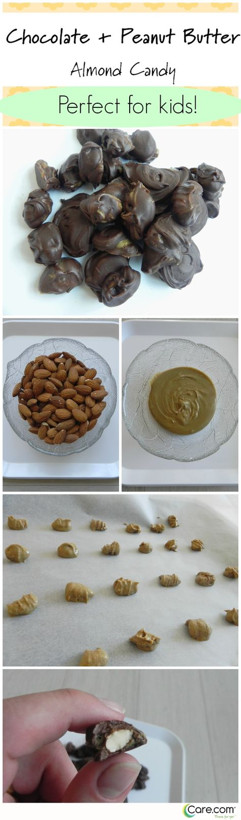 Chocolate Peanut Butter Almond Candy. Great recipe for cooking with kids!