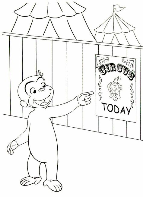 33 Curious George Coloring Book Pages Ideas Curious George, Coloring Book  Pages, Coloring Books