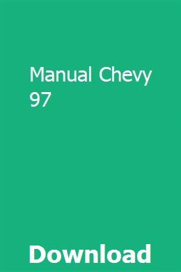 Manual Chevy 97 Teaching Guides Chevy Verbal Behavior
