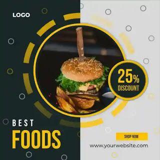 تصميمات سوشيال ميديا Psd Food Shop Food Best Foods