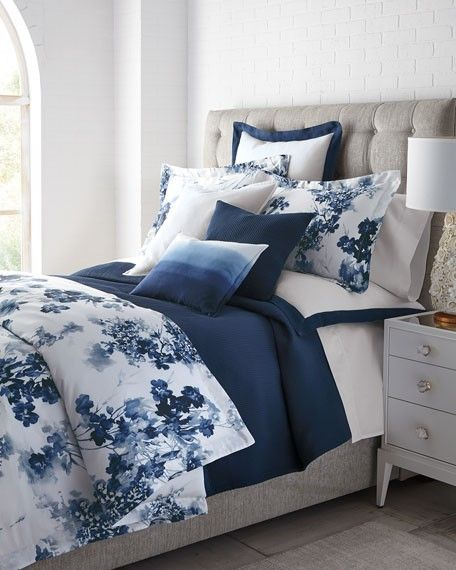 Blue Decor How To Decorate With Blue Design Tips Blue Accents Blue Bedding Blue Bedroom Decor Blue Master Bedroom